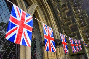Großbritannien Flaggen in England