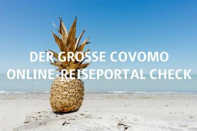 """Goldene Ananas am Strand """"Der große Covomo Online-Reiseportal Check"""""""